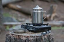 Coffee Pot On Camp Stove