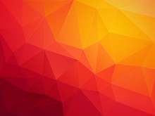 Abstract Red Orange Polygonal ...
