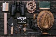 Compass, Binoculars, Film Phot...