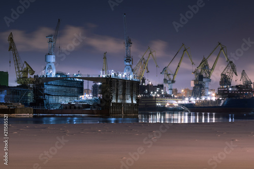 Photo Admiralty Shipyards in St. Petersburg, Russia