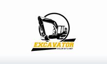 Excavator Logo Designs Template Vector Illustration