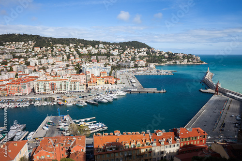 Fotobehang Nice Port Lympia on French Riviera in City of Nice in France