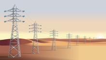 High Voltage Power Line Tower....
