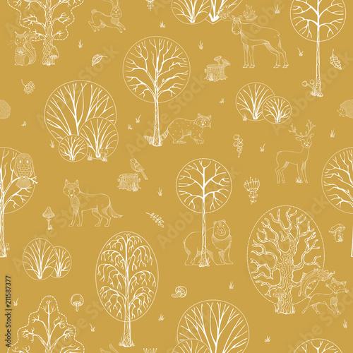 wektorowy-jesien-lasu-bezszwowy-wzor