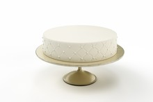 Basic Wedding Cake On Plate Is...