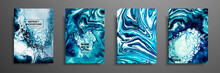 Mixture Of Acrylic Paints. Liq...