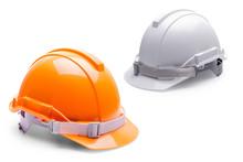 Orange White Safety Helmet Con...