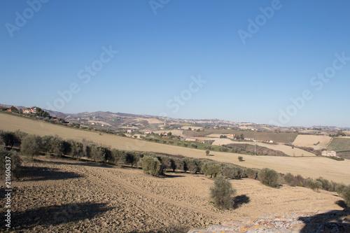 Staande foto Beige marchigian hills 10