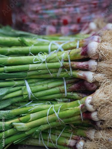 Fresh green vegetables at public market