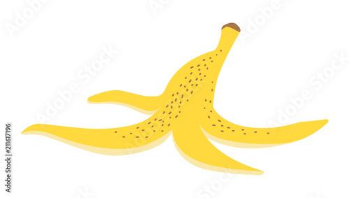 Cuadros en Lienzo Vector illustration of a banana peel