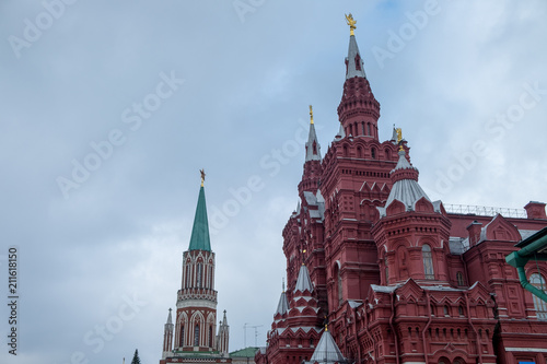 Keuken foto achterwand Moskou Red square moscow kremlin in cloudy day