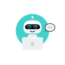 Robot Icon. Chat Bot Sign For ...