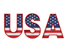 USA Stars And Stripes Flag Fon...