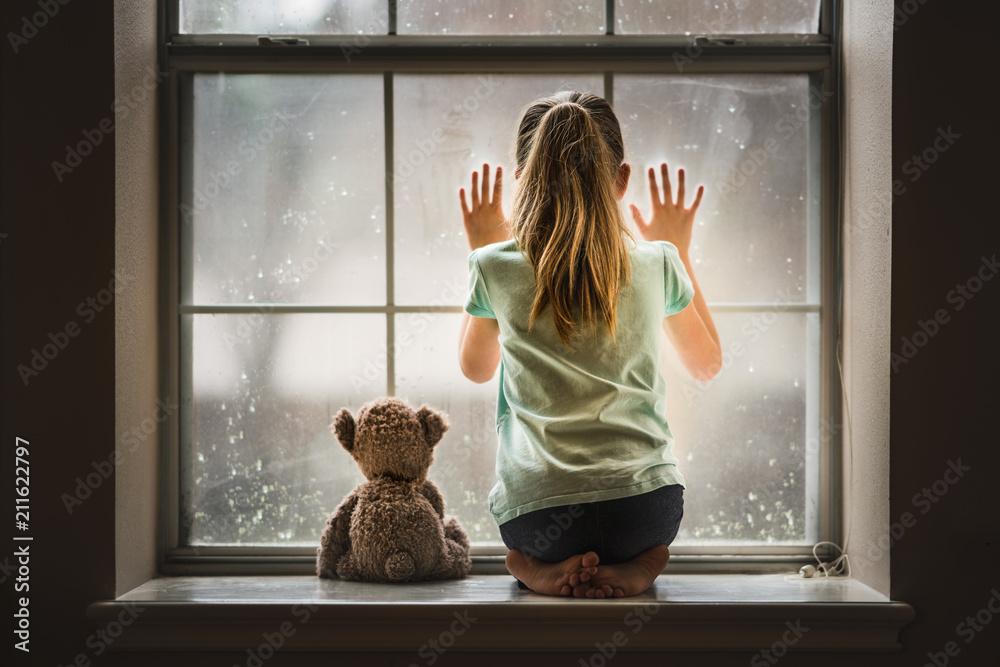 Fototapeta Girl with Teddy Bear