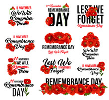 Remembrance Day Red Poppy Flower Icon Design