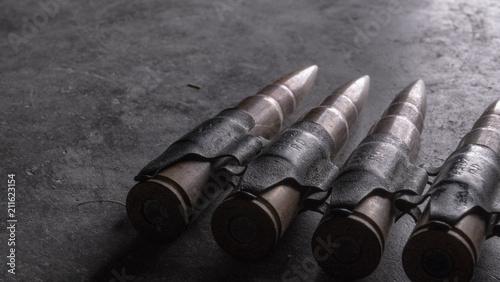 Fotografia, Obraz Ammo Bullet Chain Machine Gun - 2