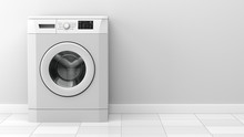 Modern Washing Machine In Fron...
