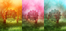 Set Of Three Vector Template F...