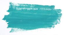 Turquoise Brush Stroke Isolate...