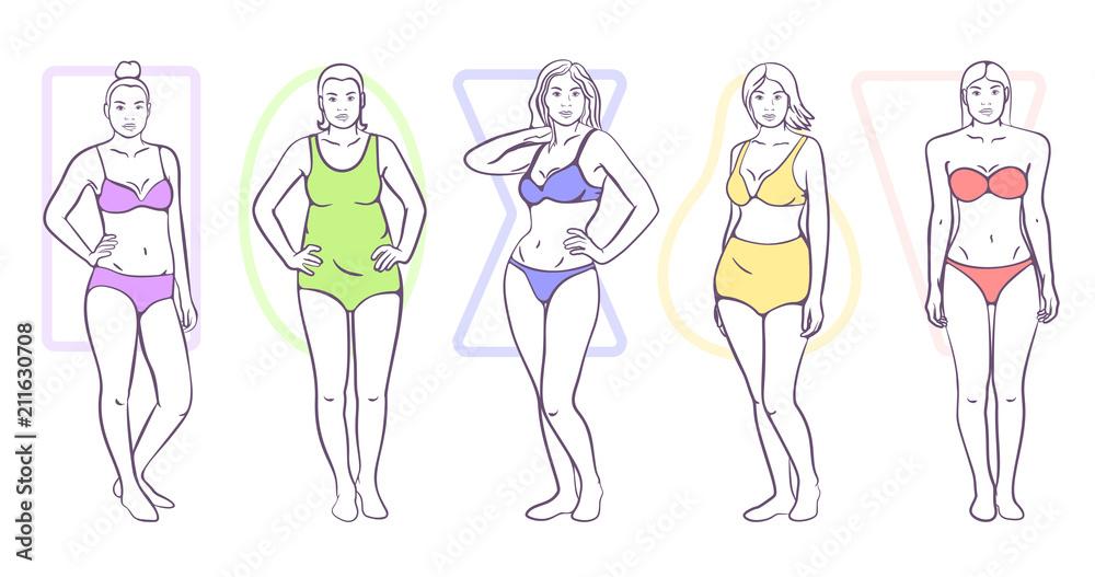 Fototapeta Woman body shape