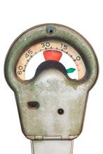 Old Weathered Parking Meter Is...