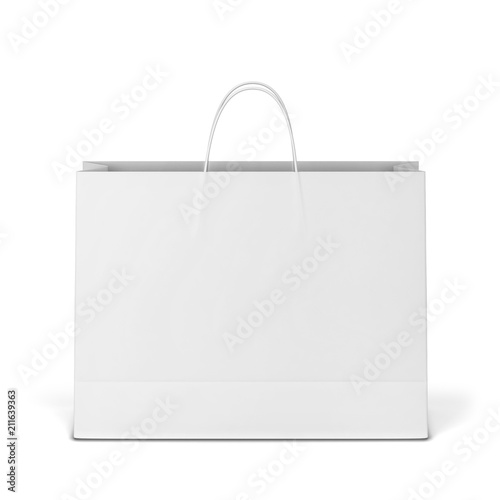 Photo Blank shopping bag mockup