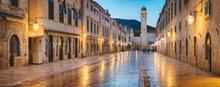 Dubrovnik Twilight Panorama, Dalmatia, Croatia