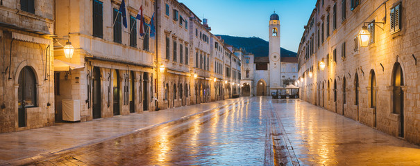 Dubrovnik twilight panorama...