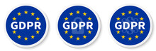 GDPR Circle Sticker Set With T...