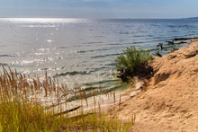 Summer Landscape On A Sunny Morning - The Sandy Coast Of The Regi With A View Of The Water And The Sky