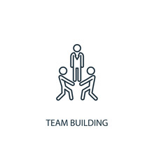 Team Building Line Icon. Simple Element Illustration
