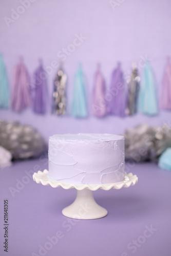 Purple Cake for Birthday Party Celebration