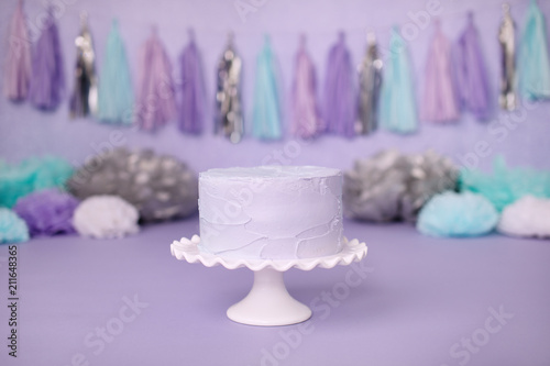 Purple Cake for Birthday Party Celebration