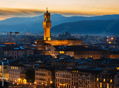 Staande foto Europa Aerial view on Florence