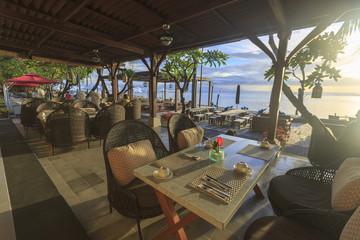 A beach restaurant in Bali in Indonesia