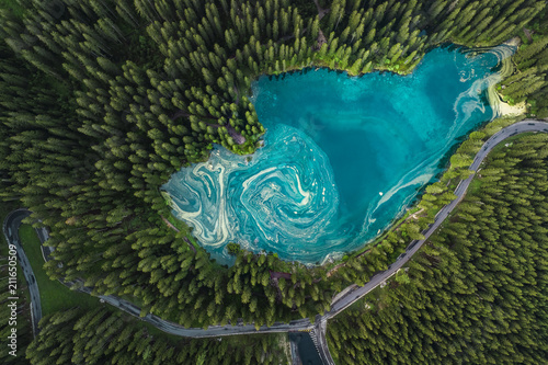 Lago di Carezza Wallpaper Mural