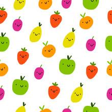 Colorful Freshh Fruits Seamles...