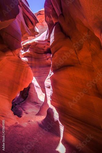 In de dag Canyon Antelope canyon, Arizona