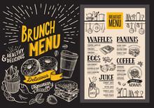 Brunch Menu For Restaurant. Ve...