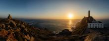Faro Cabo Vilan, Galicia, Espa...