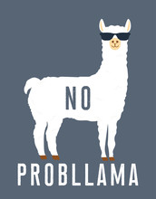 No Prob Llama Motivational Quote
