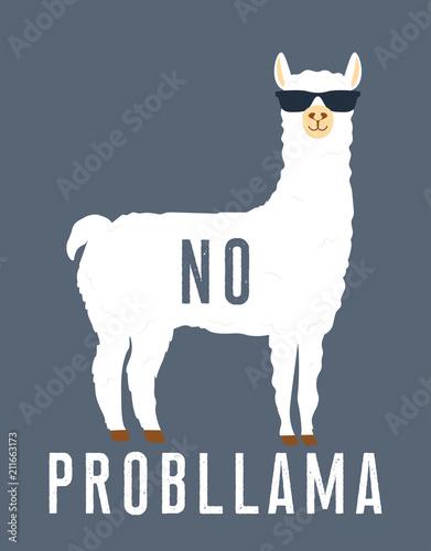 No prob llama motivational quote Canvas Print
