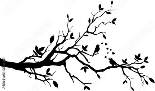 Baum mit Vögel Obraz na płótnie