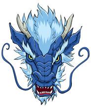 Chinese Dragon Head Blue / Han...