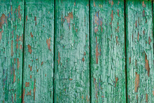 Vertical Wooden Planks Texture Of Paint, Background Of Scrappy Old Paint On Wood