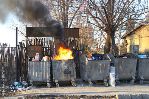 Photo Garbage Fire