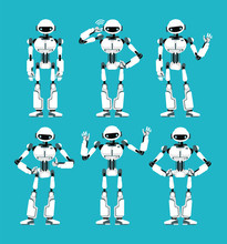 Spaceman Robot Android In Diff...