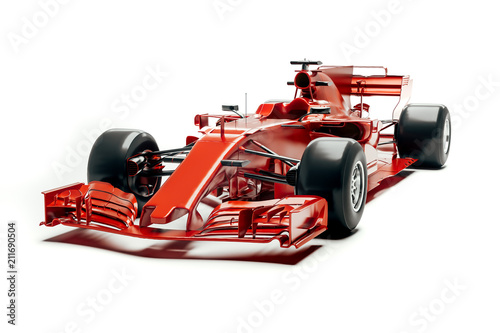Photo sur Toile Motorise 3d f1 race car render