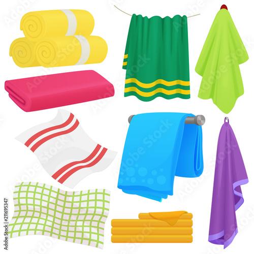 Cartoon funny vector towels Fototapet