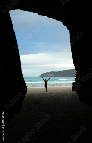 Spoed Foto op Canvas Cathedral Cove Cathedrale cove in New Zealand